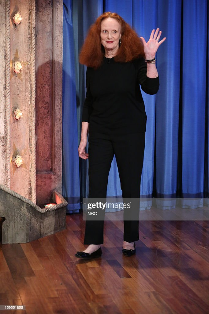 <a gi-track='captionPersonalityLinkClicked' href=/galleries/search?phrase=Grace+Coddington&family=editorial&specificpeople=1706831 ng-click='$event.stopPropagation()'>Grace Coddington</a> arrives on January 15, 2013 --