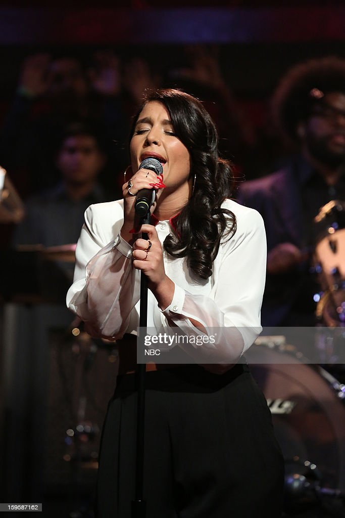 Musical guest Jessie Ware on January 16, 2012 --