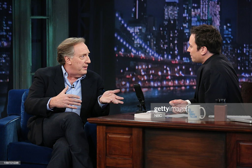 Alan Zweibel with host Jimmy Fallon during an interview on January 18, 2013 --