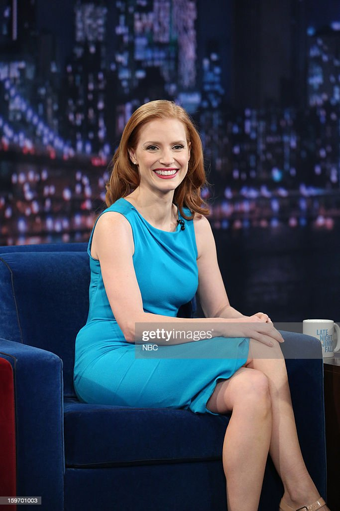 Jessica Chastain on January 18, 2013 --