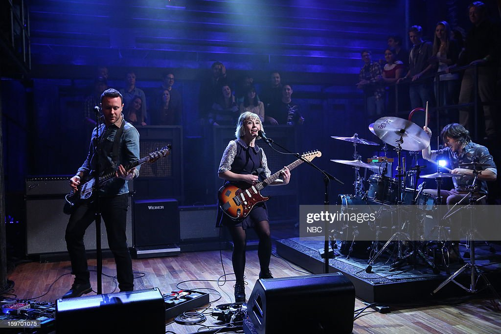 Musical guest The Joy Formidable on January 18, 2013 --