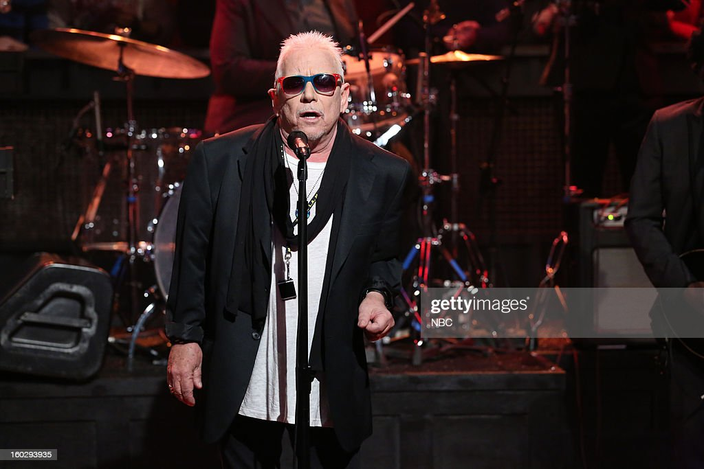 Musical guest <a gi-track='captionPersonalityLinkClicked' href=/galleries/search?phrase=Eric+Burdon&family=editorial&specificpeople=224514 ng-click='$event.stopPropagation()'>Eric Burdon</a> performs on January 29, 2013 --