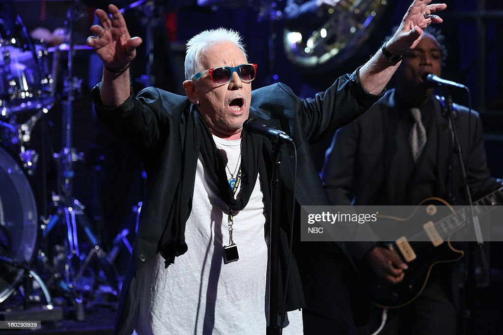 Musical guest Eric Burdon performs on January 29, 2013 --