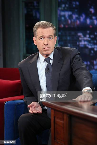 News anchor Brian Williams during an interview on January 29 2013