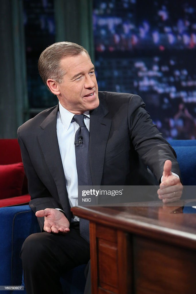 News anchor <a gi-track='captionPersonalityLinkClicked' href=/galleries/search?phrase=Brian+Williams+-+News+Anchor&family=editorial&specificpeople=206917 ng-click='$event.stopPropagation()'>Brian Williams</a> during an interview on January 29, 2013 --