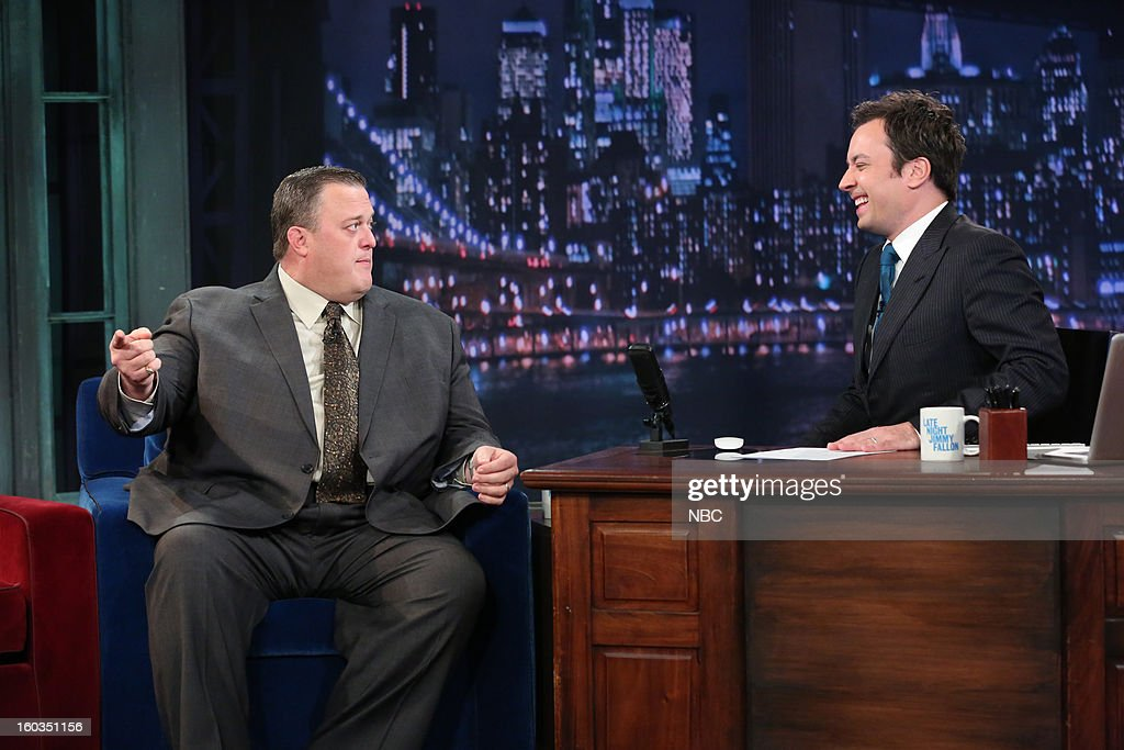 Actor Billy Gardell during an interview with host Jimmy Fallon on January 29, 2013 --