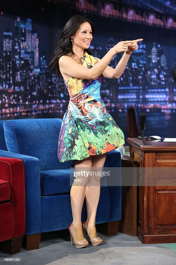 Actress Lucy Liu arrives on January 29, 2013 --