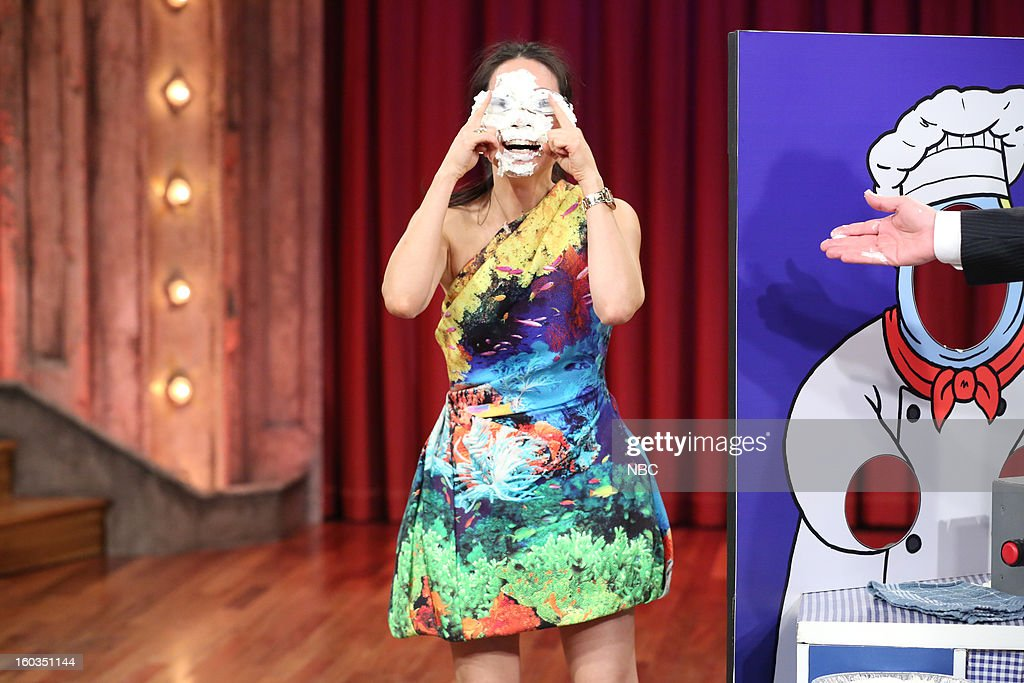 Actress <a gi-track='captionPersonalityLinkClicked' href=/galleries/search?phrase=Lucy+Liu&family=editorial&specificpeople=201874 ng-click='$event.stopPropagation()'>Lucy Liu</a> during a segment on January 29, 2013 --
