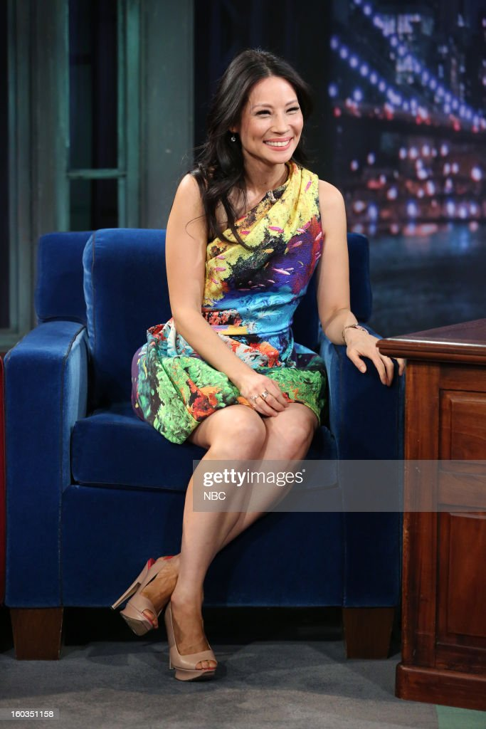 Actress Lucy Liu during an interview on January 29, 2013 --