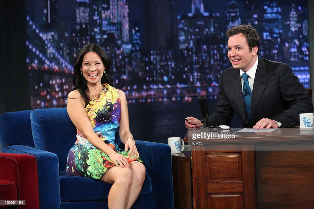 Actress Lucy Liu during an interview with hos Jimmy Fallon on January 29, 2013 --