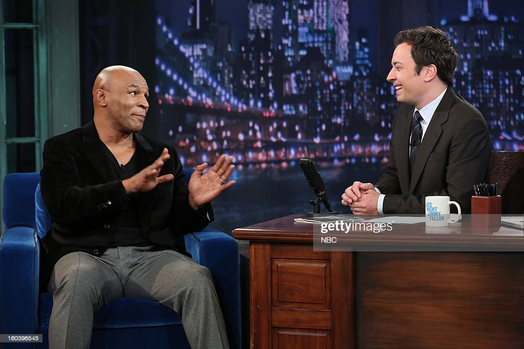 <a gi-track='captionPersonalityLinkClicked' href=/galleries/search?phrase=Mike+Tyson&family=editorial&specificpeople=194986 ng-click='$event.stopPropagation()'>Mike Tyson</a>, Jimmy Fallon --