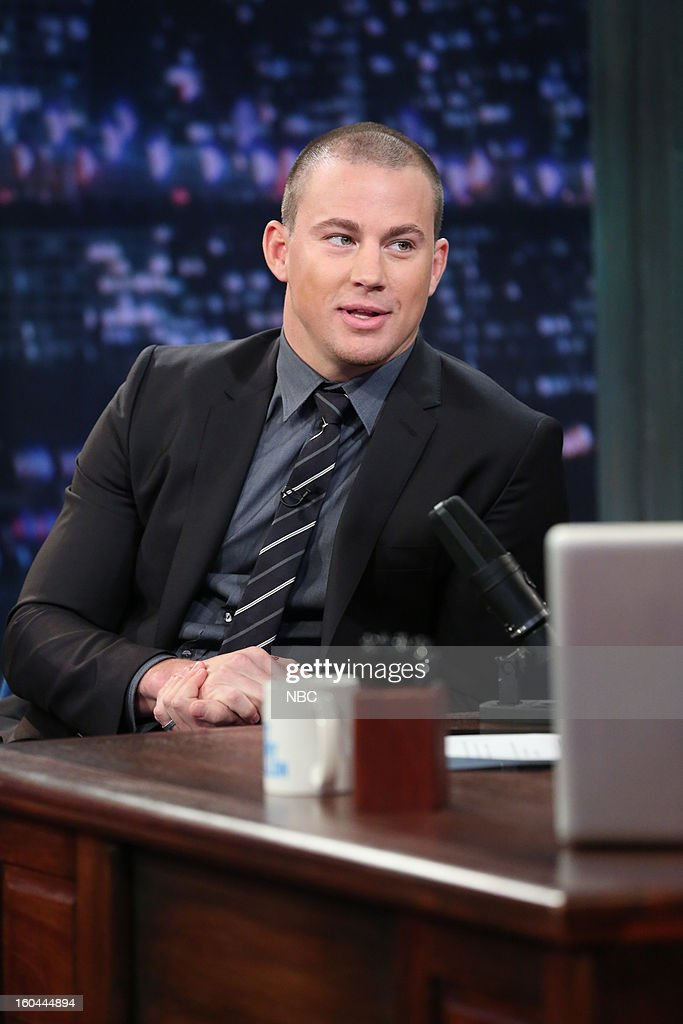 Actor <a gi-track='captionPersonalityLinkClicked' href=/galleries/search?phrase=Channing+Tatum&family=editorial&specificpeople=549548 ng-click='$event.stopPropagation()'>Channing Tatum</a> during an interview on January 31, 2013 --