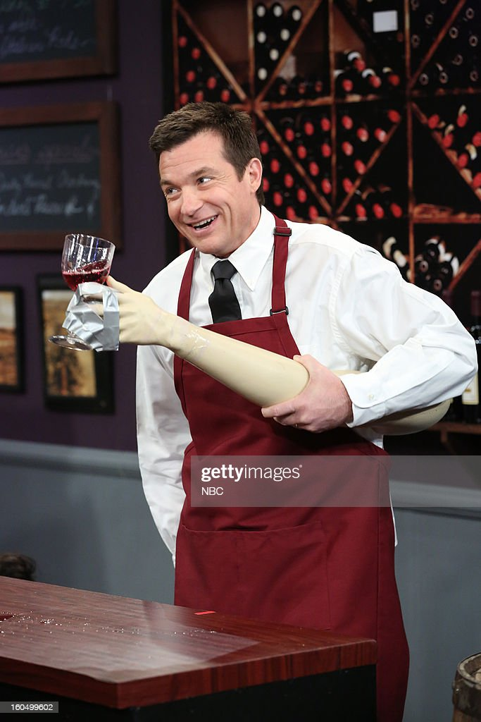 <a gi-track='captionPersonalityLinkClicked' href=/galleries/search?phrase=Jason+Bateman&family=editorial&specificpeople=204774 ng-click='$event.stopPropagation()'>Jason Bateman</a> during a skit on February 1, 2013--
