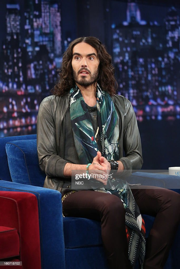Actor <a gi-track='captionPersonalityLinkClicked' href=/galleries/search?phrase=Russell+Brand&family=editorial&specificpeople=536593 ng-click='$event.stopPropagation()'>Russell Brand</a> on February 4, 2013 --