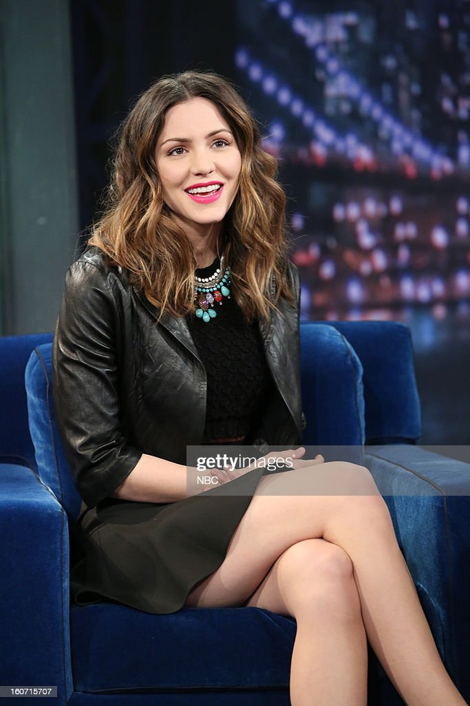 Actress <a gi-track='captionPersonalityLinkClicked' href=/galleries/search?phrase=Katharine+McPhee&family=editorial&specificpeople=581492 ng-click='$event.stopPropagation()'>Katharine McPhee</a> on February 4, 2013--