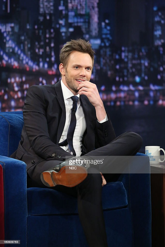 Actor <a gi-track='captionPersonalityLinkClicked' href=/galleries/search?phrase=Joel+McHale&family=editorial&specificpeople=754384 ng-click='$event.stopPropagation()'>Joel McHale</a> on February 7, 2013 --