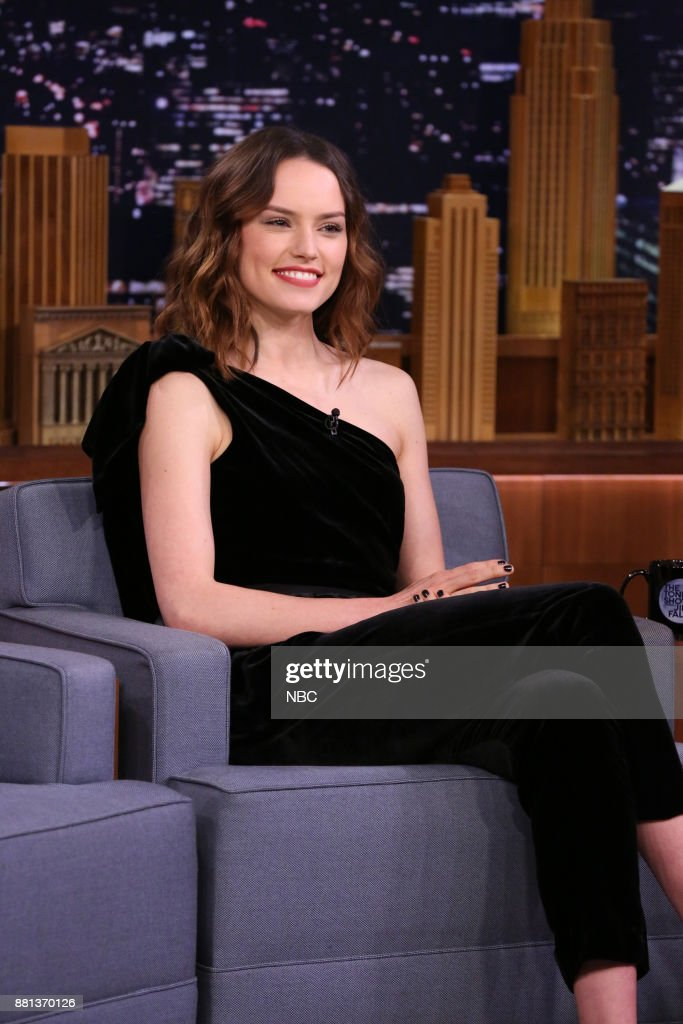 Actress Daisy Ridley during an interview on November 28, 2017 --