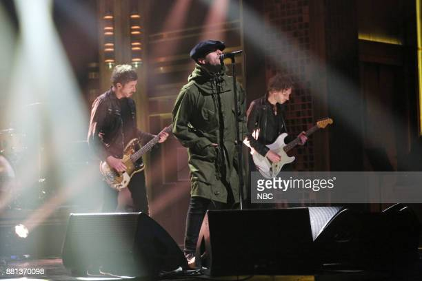Musical guest Liam Gallagher performs on November 28 2017