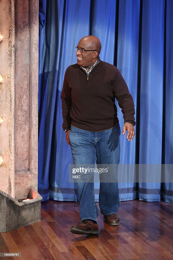NBC News' Al Roker arrives on February 7, 2013 --
