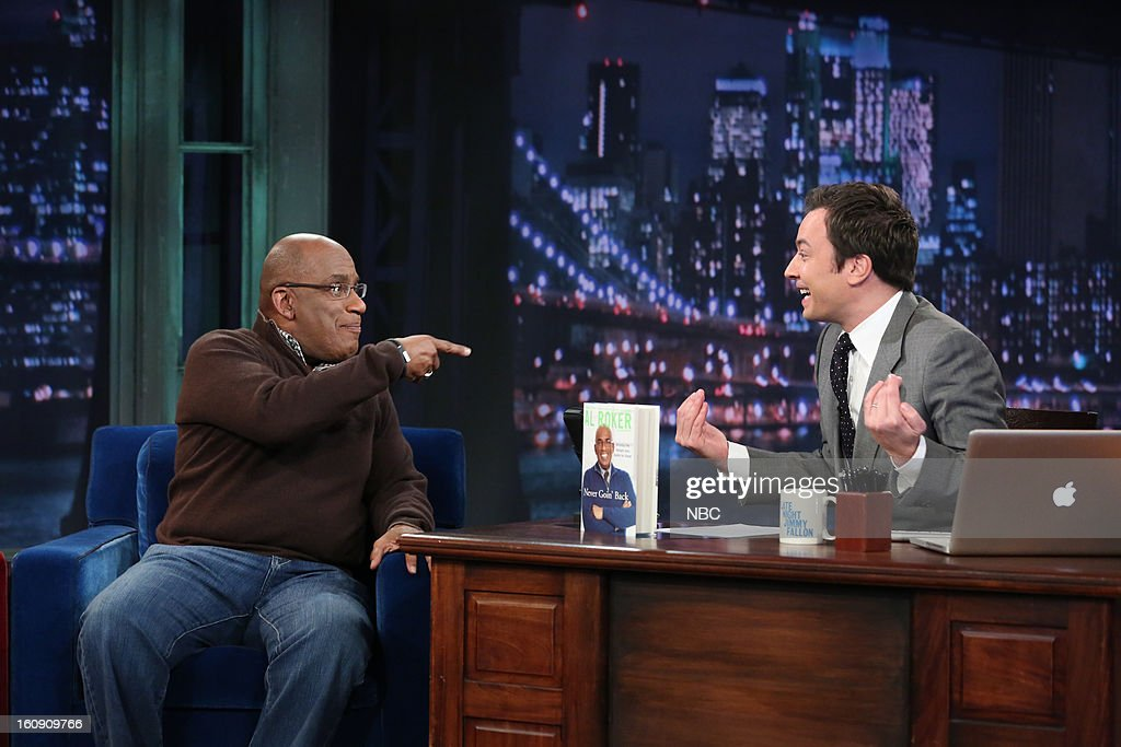 NBC News' Al Roker with host Jimmy Fallon during an interview on February 7, 2013 --