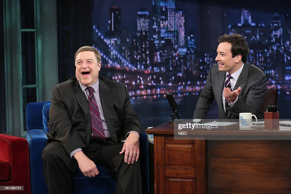 John Goodman with host Jimmy Fallon during an interview on February 11, 2013 --