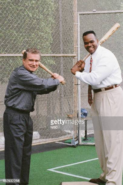 Talk show host Regis Philbin and professional baseball player Frank Thomas on October 4 1995