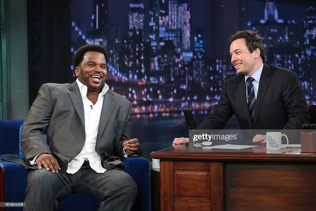 with host Jimmy Fallon during an interview on February 12, 2013 --