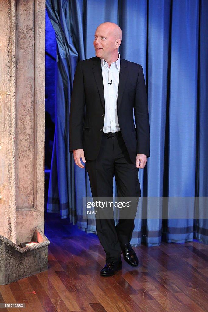 Bruce Willis arrives on February 14, 2013 --