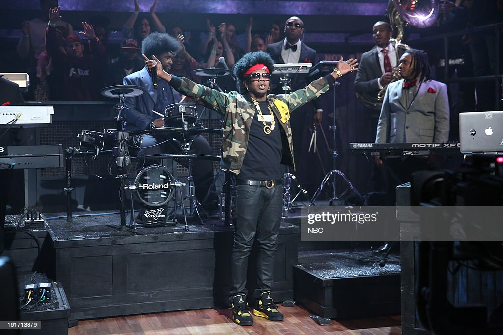 Musical guest Trinidad Jame$ on February 14, 2013 --
