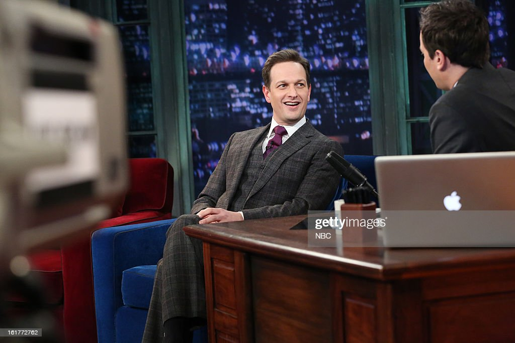 Josh Charles with host Jimmy Fallon during an interview on February 15, 2013 --