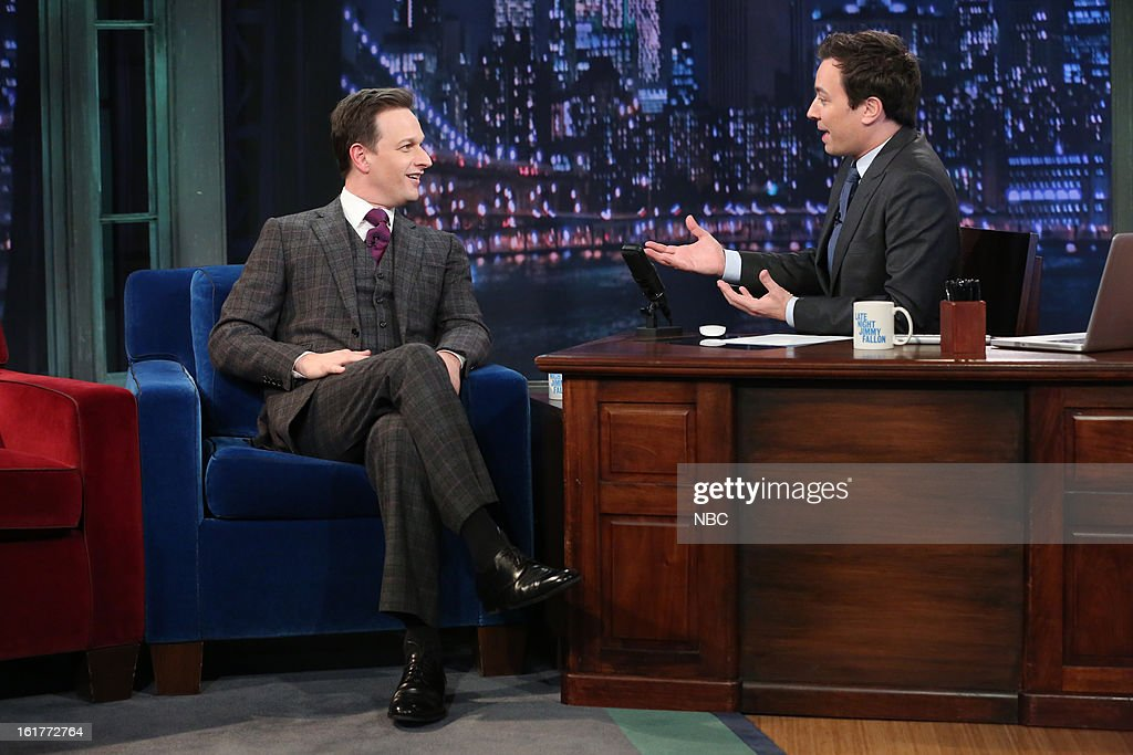 <a gi-track='captionPersonalityLinkClicked' href=/galleries/search?phrase=Josh+Charles&family=editorial&specificpeople=240614 ng-click='$event.stopPropagation()'>Josh Charles</a> with host <a gi-track='captionPersonalityLinkClicked' href=/galleries/search?phrase=Jimmy+Fallon&family=editorial&specificpeople=171520 ng-click='$event.stopPropagation()'>Jimmy Fallon</a> during an interview on February 15, 2013 --
