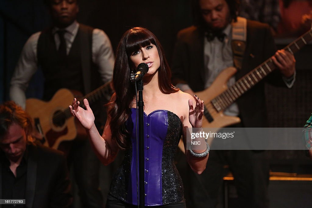 Musical guest Rachel Reinert of Gloriana on February 15, 2013 --