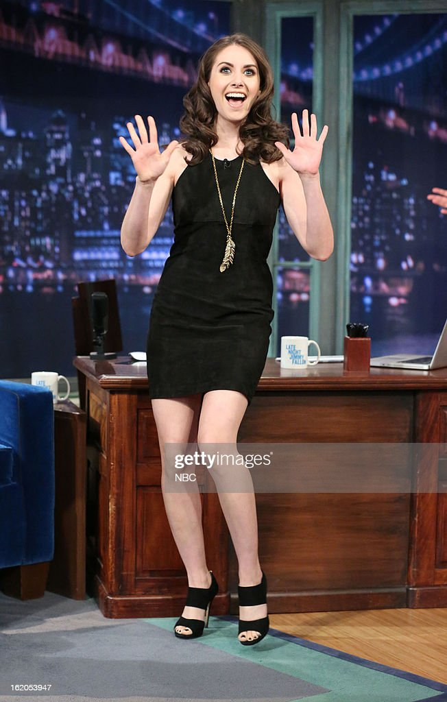 Alison Brie arrives on February 18, 2013 --