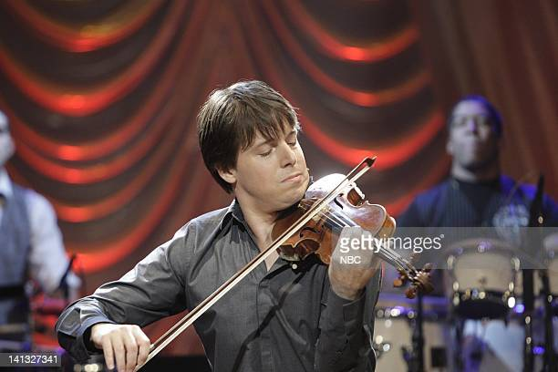 BRIEN Episode 79 Air Date Pictured Musical guests Joshua Bell with Tiempo Libre on October 02 2009 Photo by Paul Drinkwater/NBCU Photo Bank