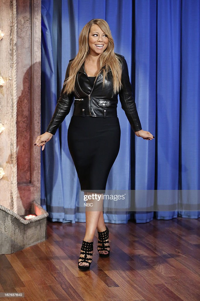 Mariah Carey arrives on March 1, 2013 --
