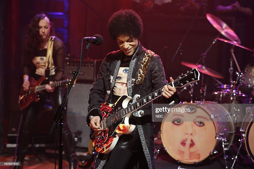 Musical guest Prince on March 1, 2013 --