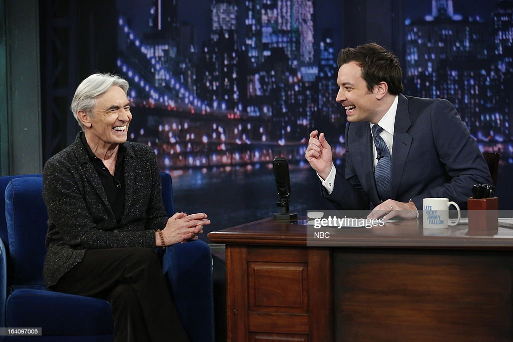 David Steinberg with host <a gi-track='captionPersonalityLinkClicked' href=/galleries/search?phrase=Jimmy+Fallon&family=editorial&specificpeople=171520 ng-click='$event.stopPropagation()'>Jimmy Fallon</a> during an interview on March 19, 2013 --