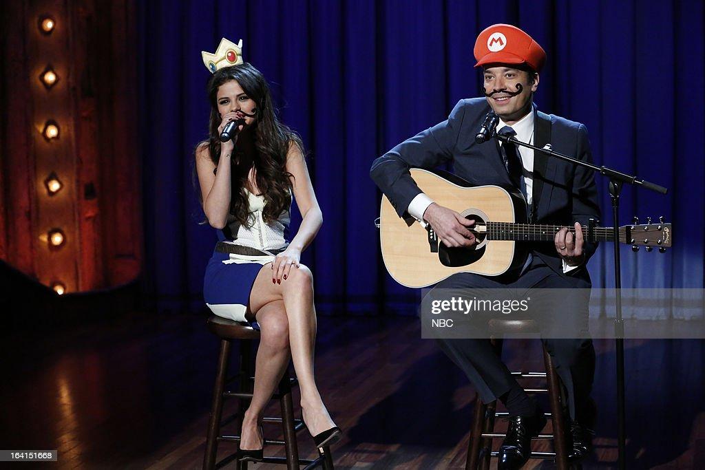Selena Gomez, Jimmy Fallon --