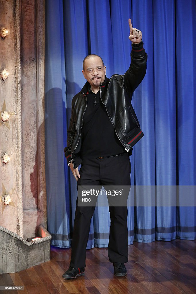 Actor/rapper Ice-T arrives on March 26, 2013 --