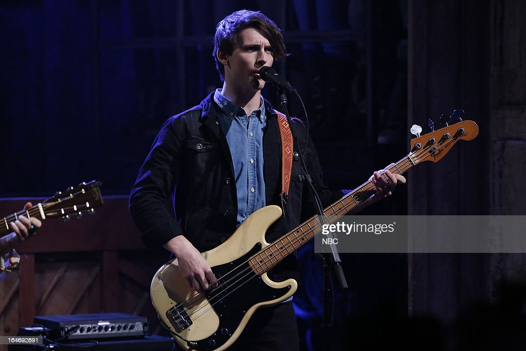 Musical guest Donagh S. O'Leary of the Little Green Cars performs on March 26, 2013 --