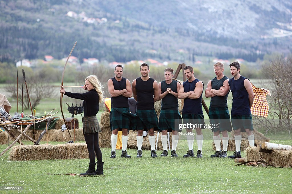 THE BACHELORETTE - 'Episode 806' - Six men meet Emily in old town Dubrovnik, where she takes them to a breathtaking historic theater. There they are treated to a VIP sneak peek of Disney•Pixar's highly anticipated new film 'Brave' (in theaters June 22). The men had better be paying attention because afterwards, mimicking the movie, they will be asked to dress in kilts and compete in their own Highland Games. The bachelors fire arrows, throw logs and test each other's strength. Although one bachelor dominates the competition, another wins over Emily with his persistence in the face of defeat. The after party finds one handsome man taking Emily on an intimate walk and talk in the streets of Dubrovnik, while another brave suitor offers the Bachelorette his heart, on 'The Bachelorette,' MONDAY, JUNE 18 (8:00-10:02 p.m., ET), on the ABC Television Network. (Photo by Nick Ray / ABC via Getty Images) EMILY