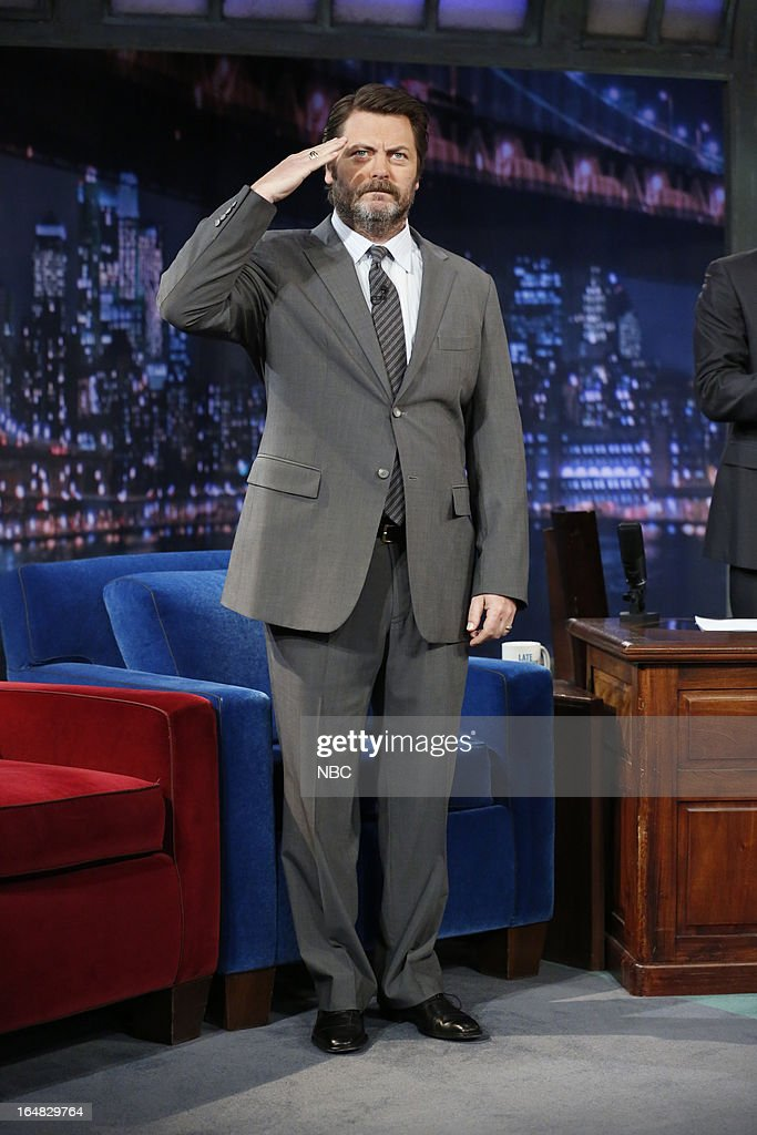 Actor Nick Offerman arrives on March 28, 2013 --