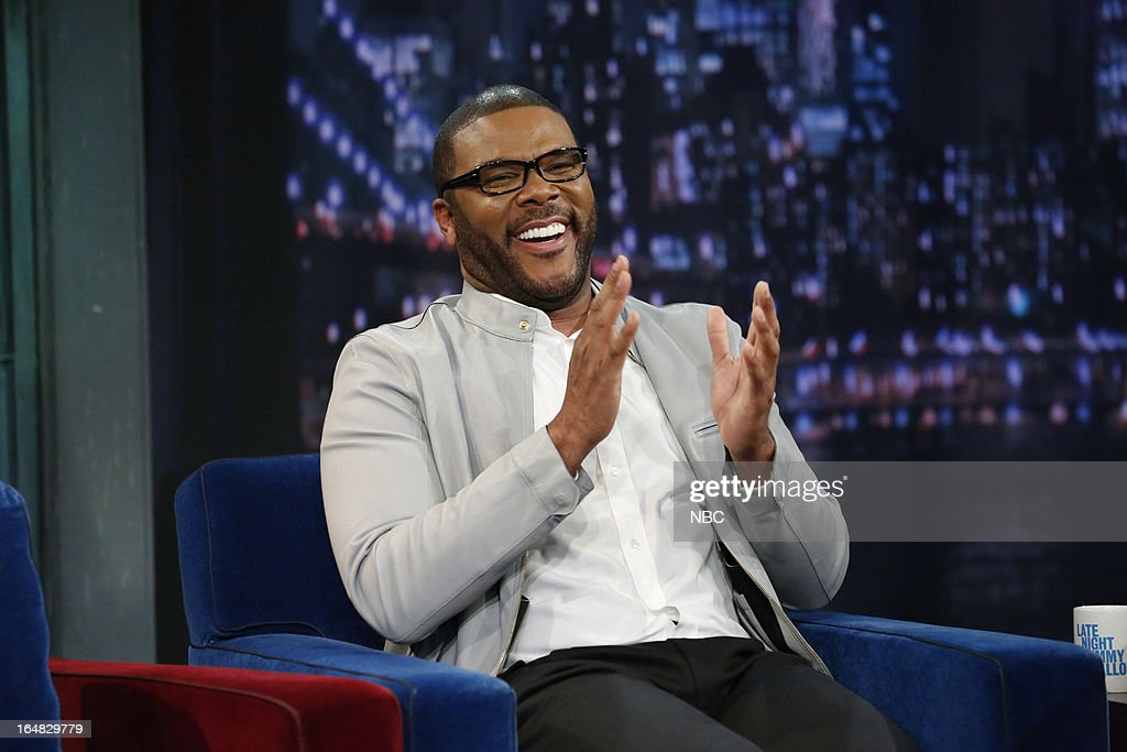 Director/actor <a gi-track='captionPersonalityLinkClicked' href=/galleries/search?phrase=Tyler+Perry&family=editorial&specificpeople=678008 ng-click='$event.stopPropagation()'>Tyler Perry</a> on March 28, 2013 --