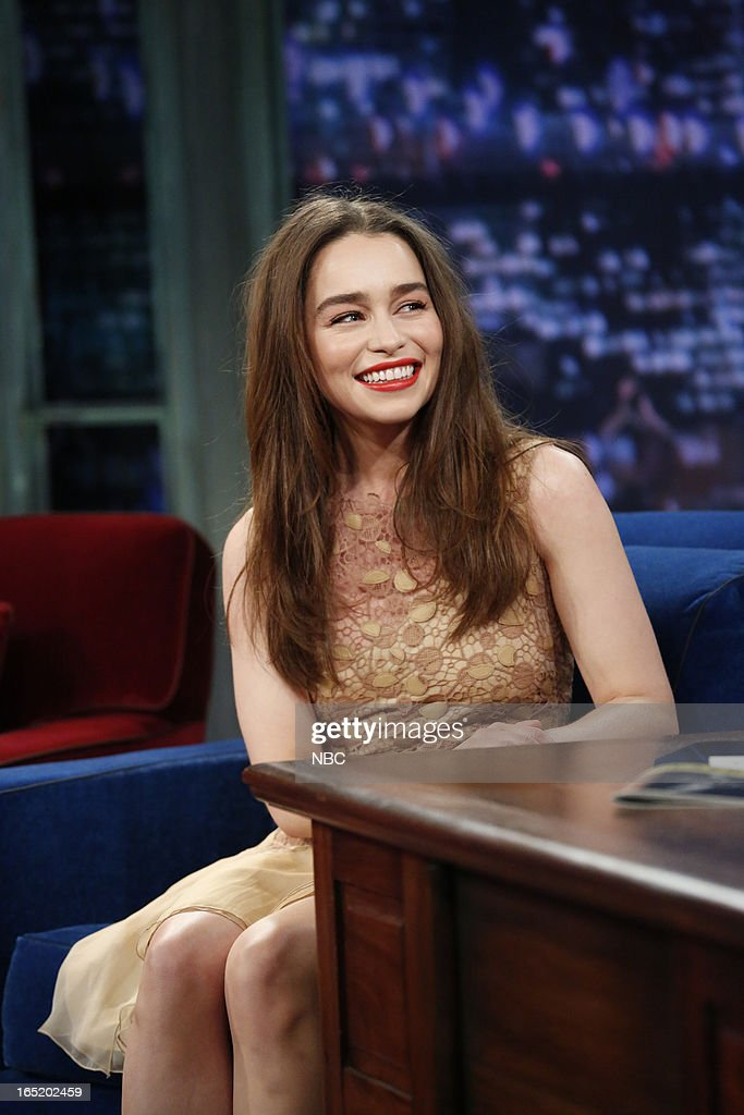 Actress Emilia Clarke on April 1, 2013 --
