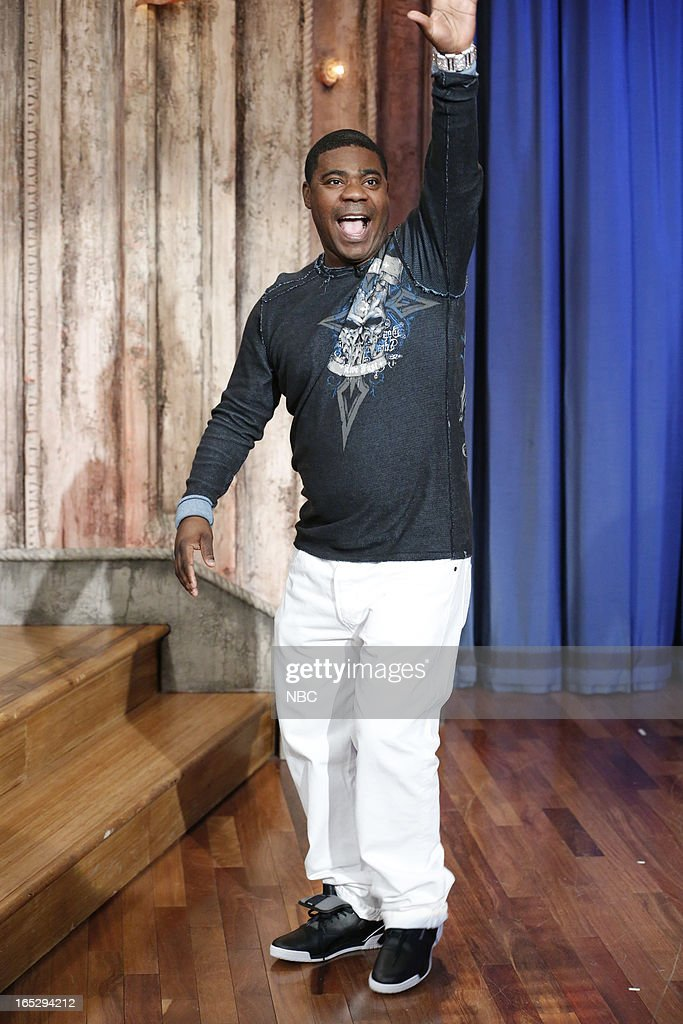 Actor/comedian <a gi-track='captionPersonalityLinkClicked' href=/galleries/search?phrase=Tracy+Morgan&family=editorial&specificpeople=182428 ng-click='$event.stopPropagation()'>Tracy Morgan</a> arrives on April 2, 2013 --