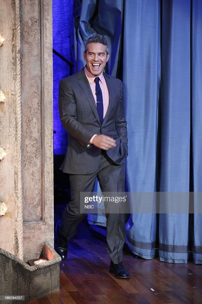 Talk show host Andy Cohen arrives on April 2, 2013 --
