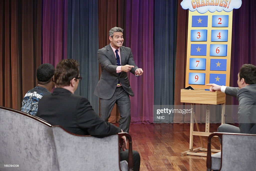<a gi-track='captionPersonalityLinkClicked' href=/galleries/search?phrase=Tracy+Morgan&family=editorial&specificpeople=182428 ng-click='$event.stopPropagation()'>Tracy Morgan</a>, Steve Higgins, Andy Cohen and host Jimmy Fallon during a skit on April 2, 2013 --