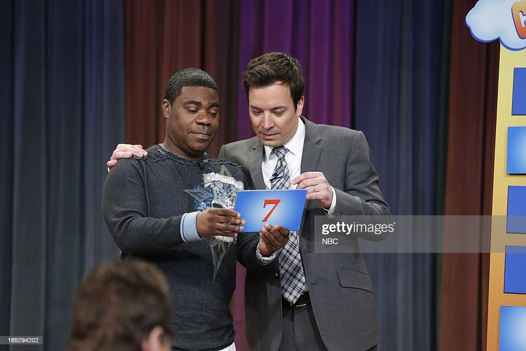 <a gi-track='captionPersonalityLinkClicked' href=/galleries/search?phrase=Tracy+Morgan&family=editorial&specificpeople=182428 ng-click='$event.stopPropagation()'>Tracy Morgan</a> with host Jimmy Fallon during a skit on April 2, 2013 --