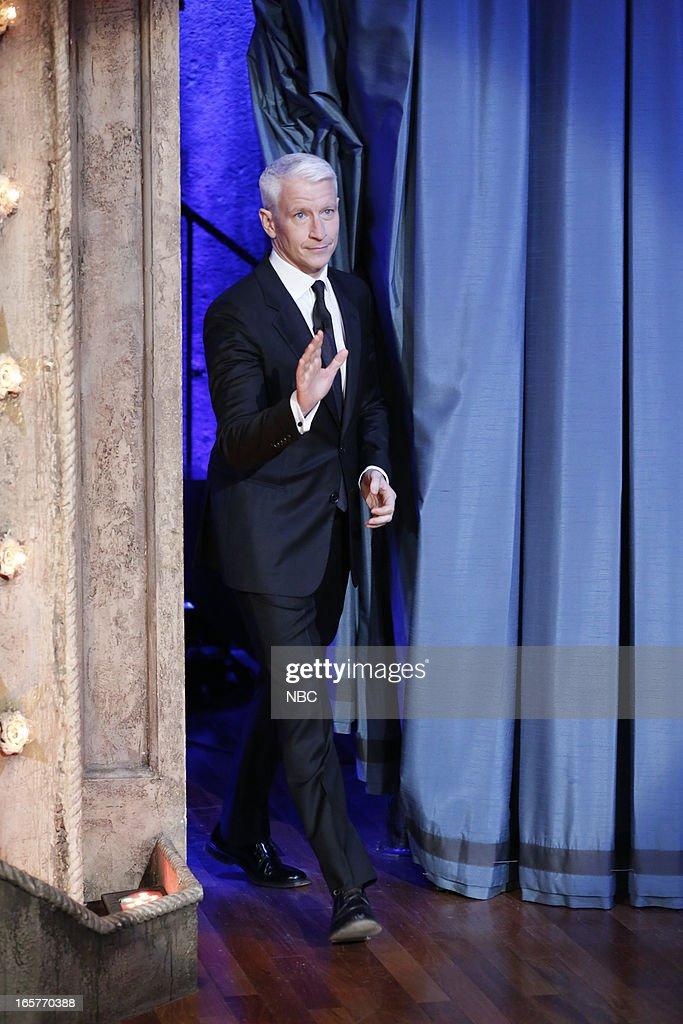 Anderson Cooper arrives on April 5, 2013 --