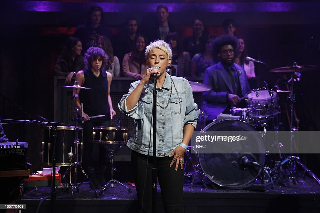 Musical guest Cat Power performs on April 5, 2013 --